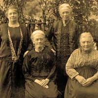 My great-great-grandmother Hannah with her three sisters.  Girl power rules.